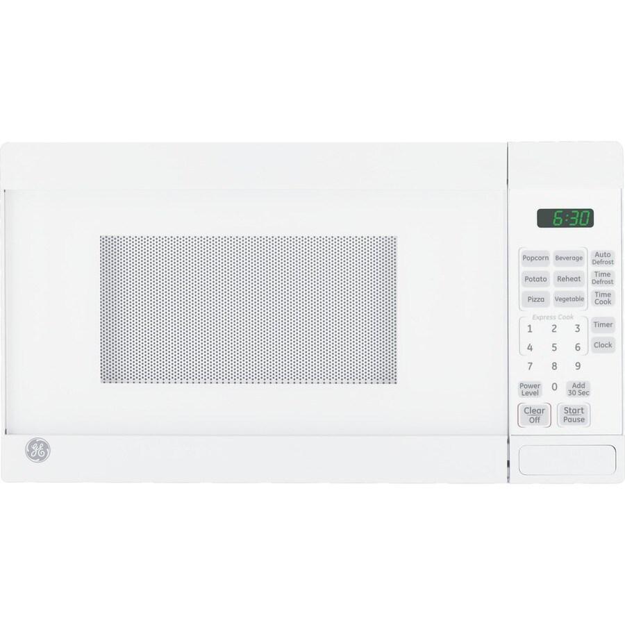 GE 0.7-cu ft 700-Watt Countertop Microwave (White)