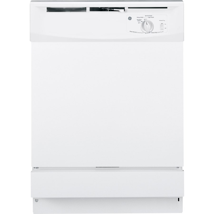 GE 64-Decibel Built-In Dishwasher and Hard Food Disposer (White) (Common: 24-in; Actual: 24-in)