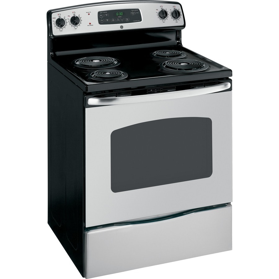 GE Freestanding 5.3-cu ft Self-Cleaning Electric Range (Stainless Steel) (Common: 30-in; Actual: 29.875-in)