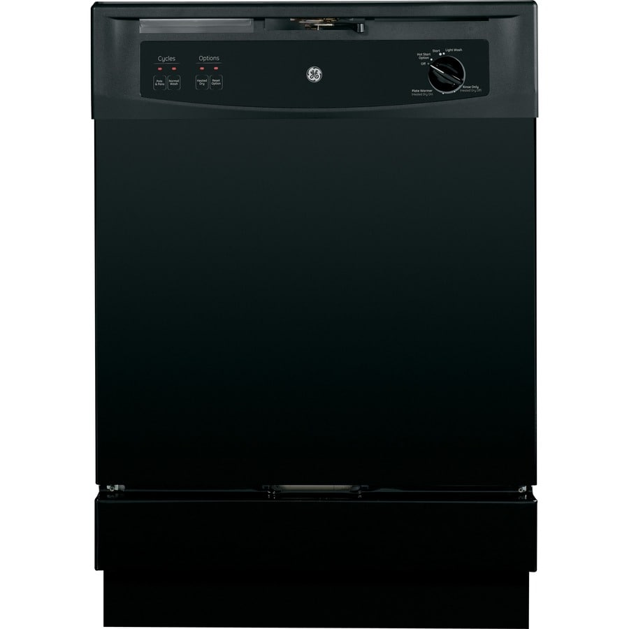 GE 64-Decibel Built-In Dishwasher with Hard Food Disposer (Black) (Common: 24-in; Actual: 24-in)