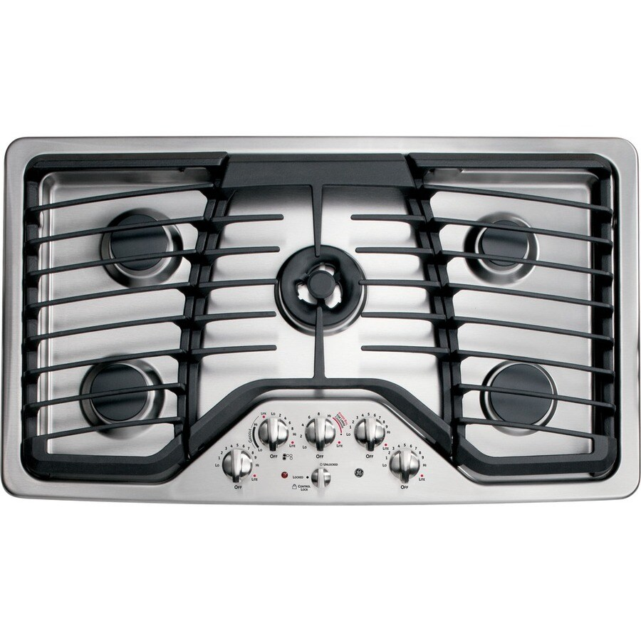 5 Burner Gas Cooktops: GE Profile 5-Burner Gas Cooktop (Stainless Steel) (Common