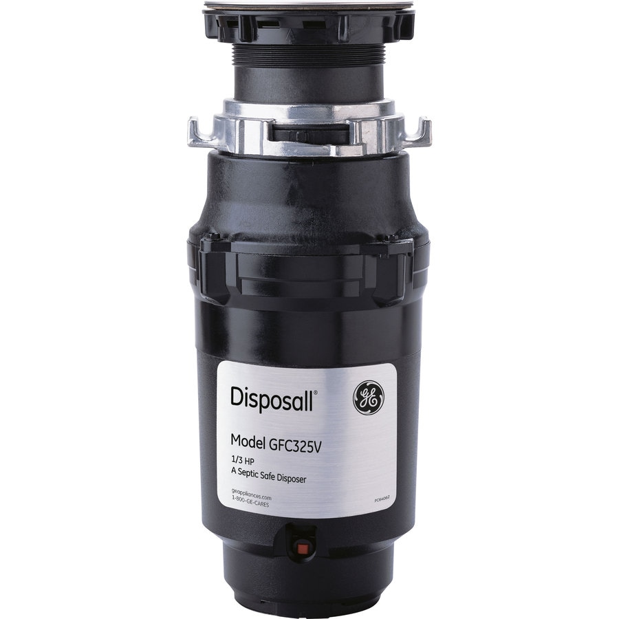 GE 1/3-HP Continuous Feed Noise Insulated Garbage Disposal