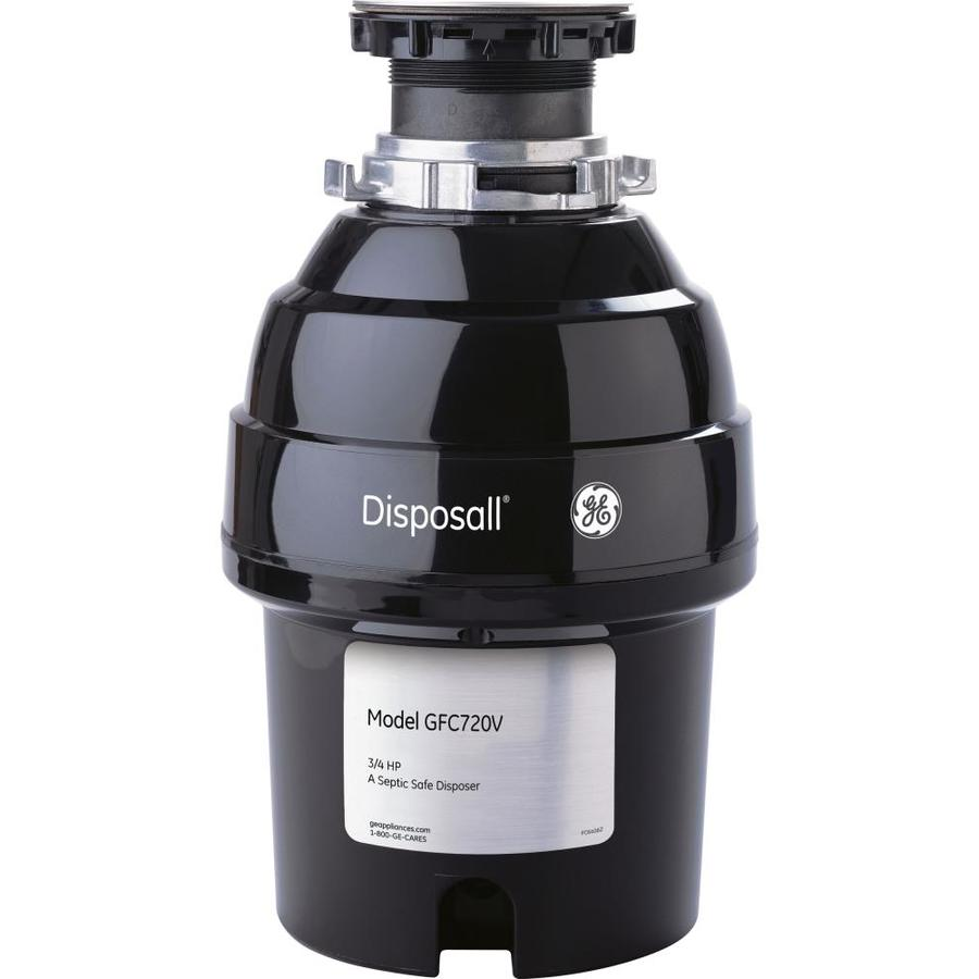 GE 3/4-HP Continuous Feed Noise Insulated Garbage Disposal