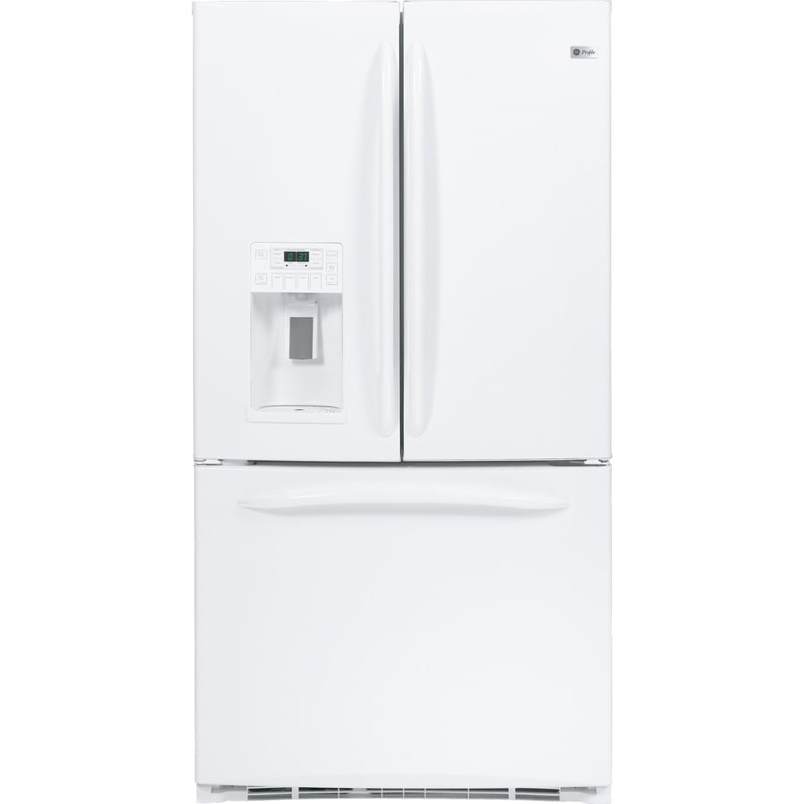 GE Profile 21 Cu Ft Bottom Freezer Counter Depth Refrigerator (White) ENERGY