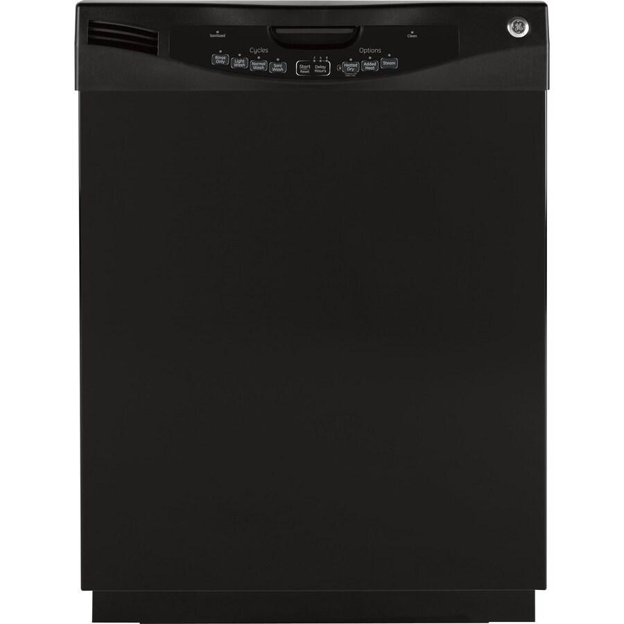 GE 57-Decibel Built-In Dishwasher (Black) (Common: 24-in; Actual: 24-in)