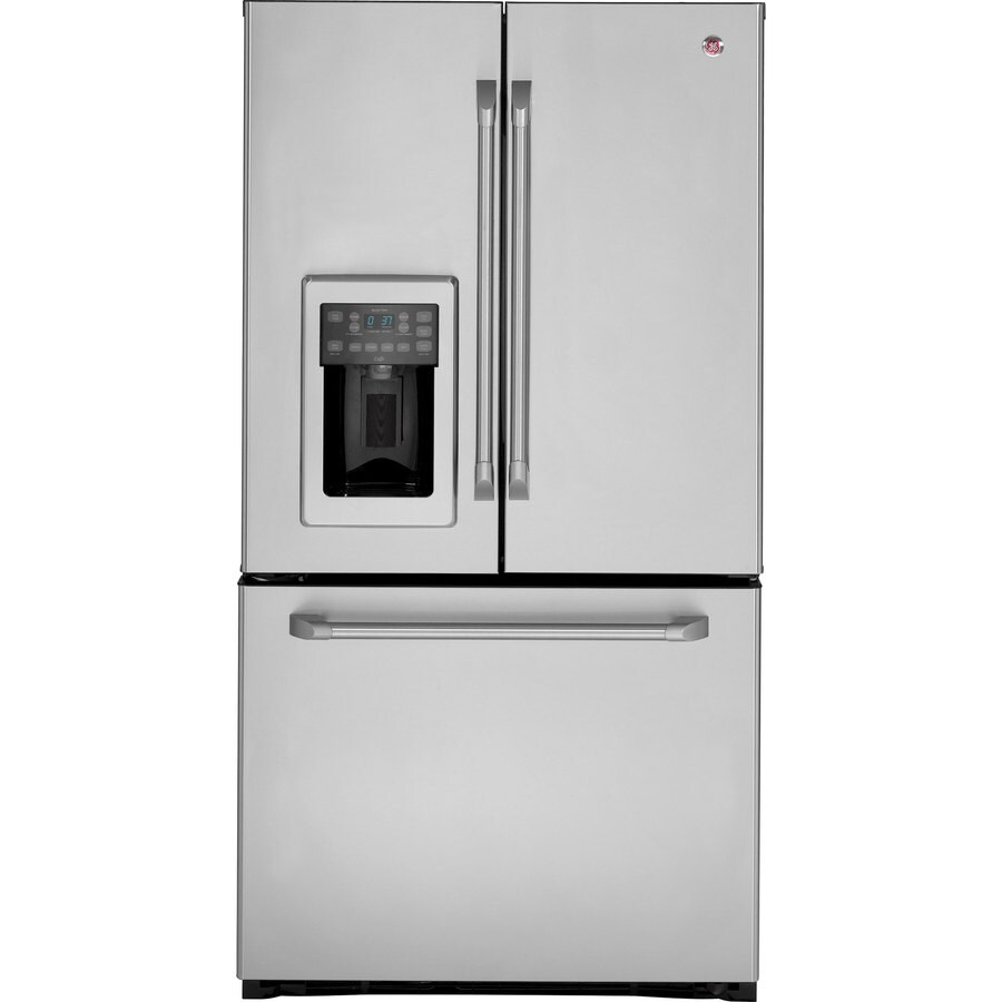 Shop Ge Cafe 251 Cu Ft French Door Refrigerator Stainless Steel