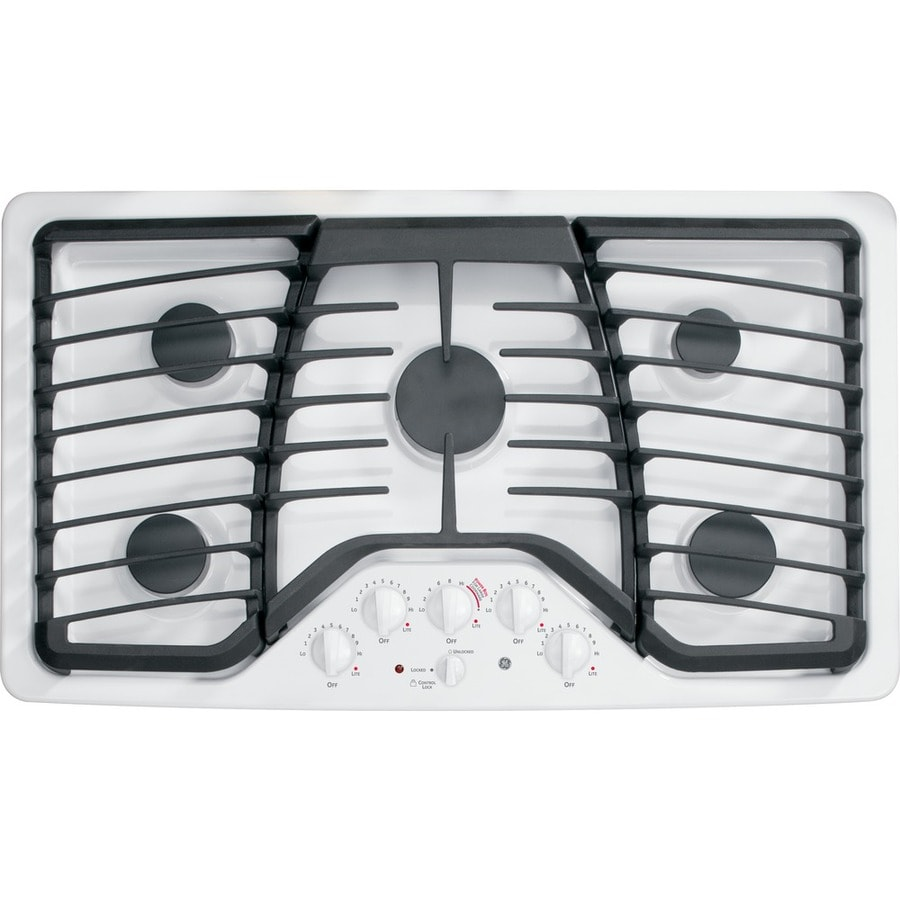 5 Burner Gas Cooktops: Shop GE Profile 5-Burner Gas Cooktop (White) (Common: 36