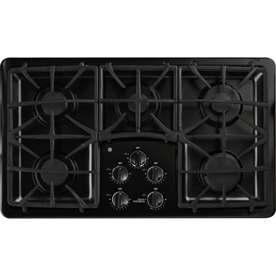GE Profile 5-Burner Gas Cooktop (Black) (Common: 36-in; Actual: 36-in)