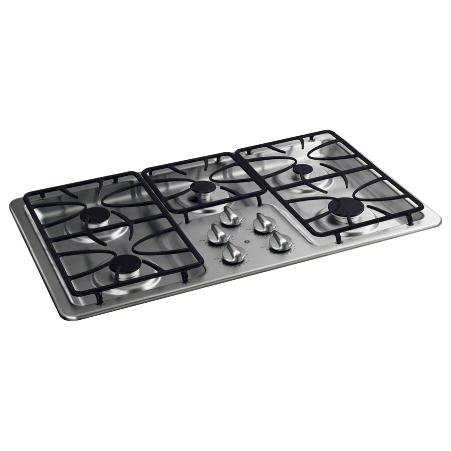 5 Burner Gas Cooktops: Shop GE 5-Burner Gas Cooktop (Stainless Steel) (Common: 36