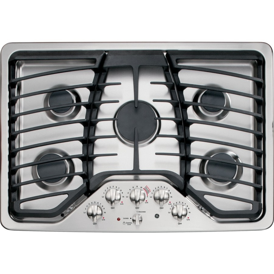 5 Burner Gas Cooktops: Shop GE Profile 5-Burner Gas Cooktop (Stainless Steel