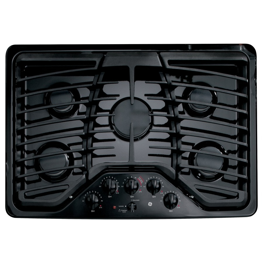 GE Profile 5-Burner Gas Cooktop (Black) (Common: 30-in; Actual: 30-in)