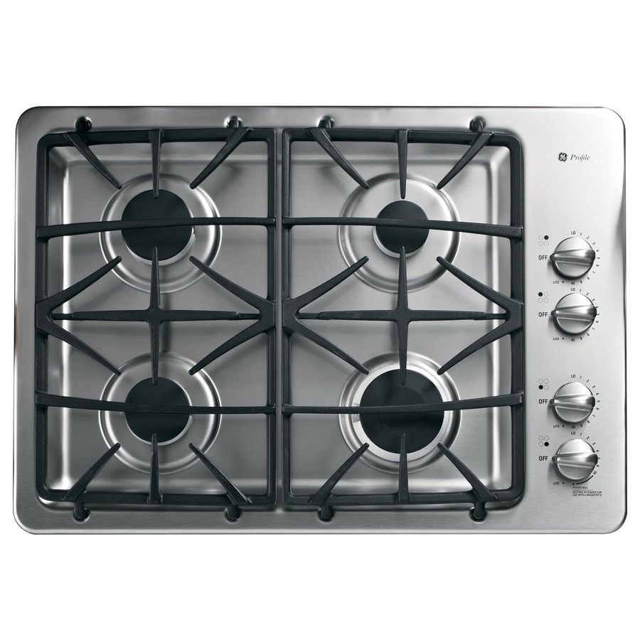 Ge Profile 30 In Stainless Steel Gas Cooktop Common Actual