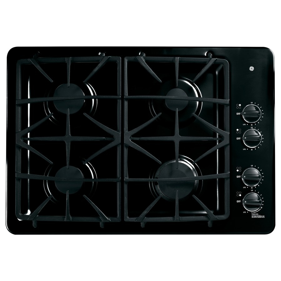 GE Profile 4-Burner Gas Cooktop (Black) (Common: 30-in; Actual: 30-in)