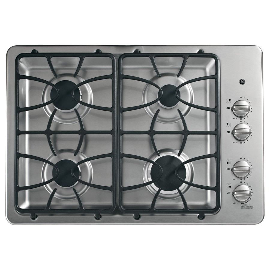 GE Gas Cooktop (Stainless Steel) (Common: 30-in; Actual: 30-in)