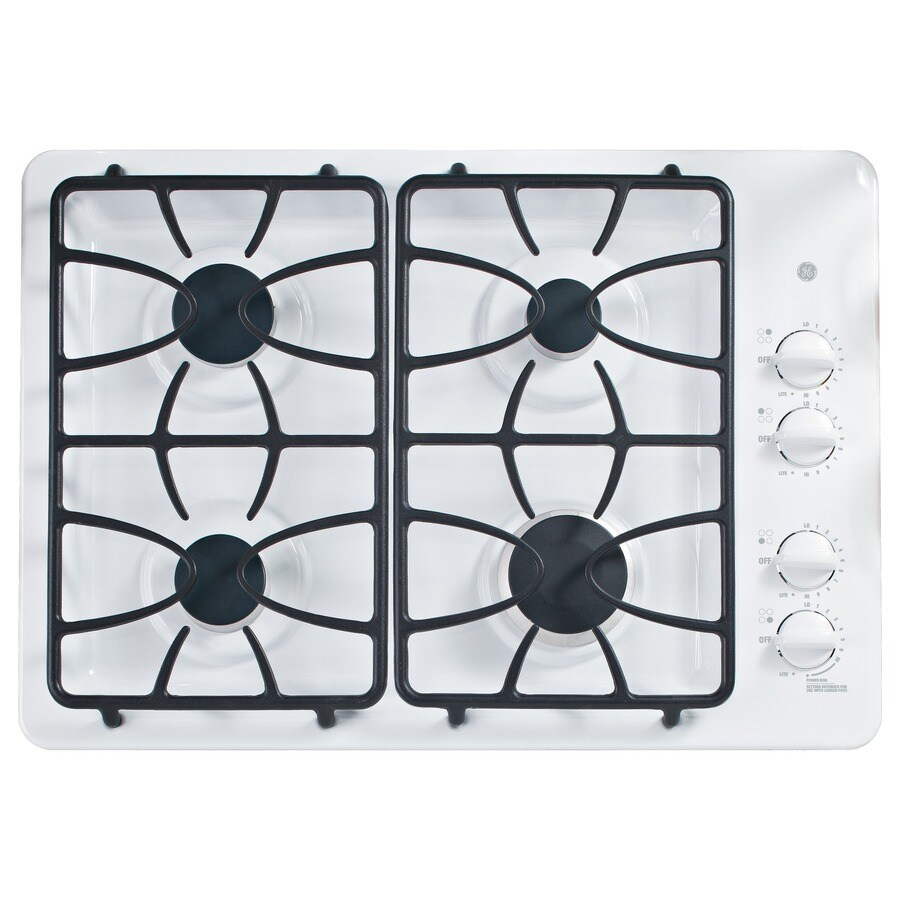 GE Gas Cooktop (White) (Common: 30-in; Actual: 30-in)