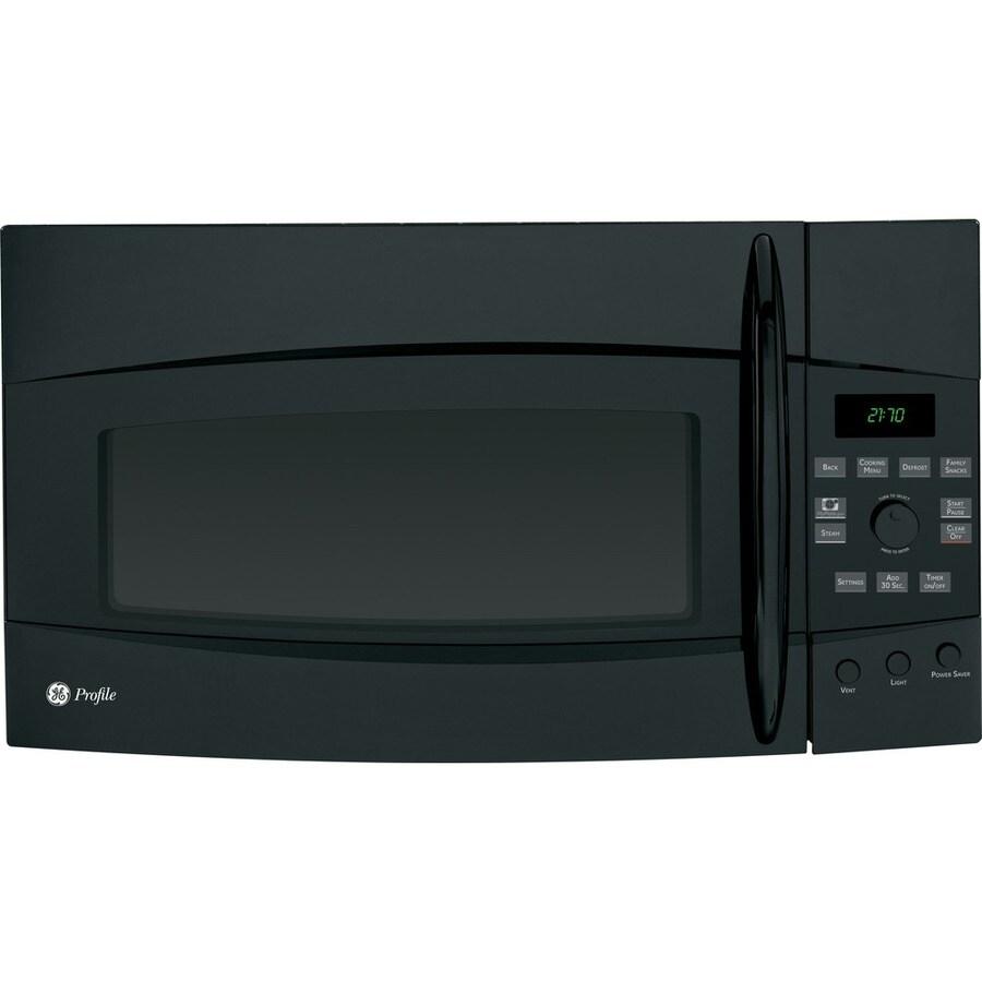 GE Profile 2.1 cu ft Over-the-Range Microwave (Black)