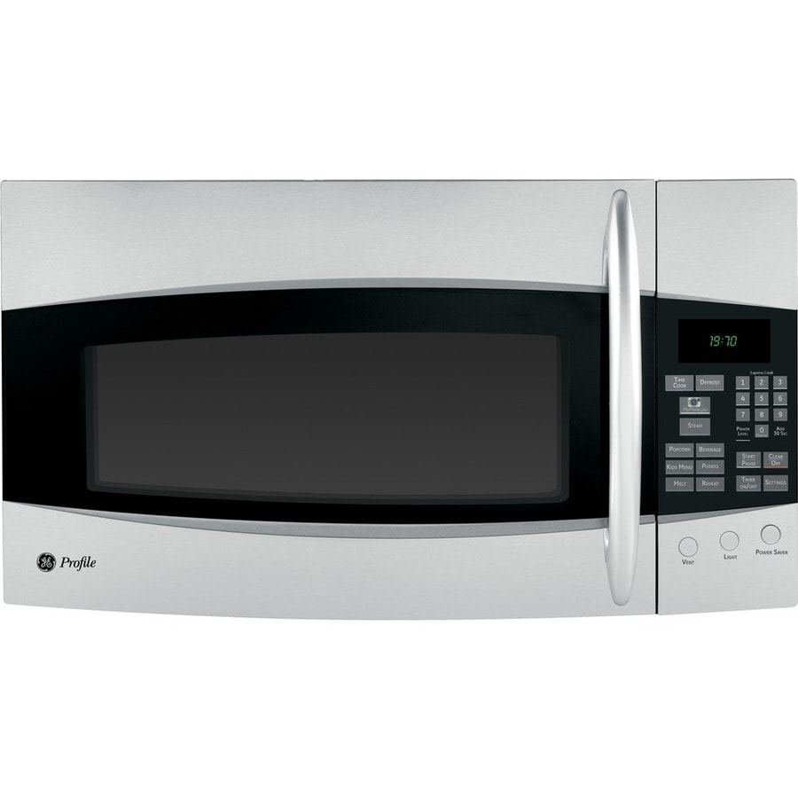 GE Profile 1.9-cu ft Over-the-Range Microwave (Stainless Steel)