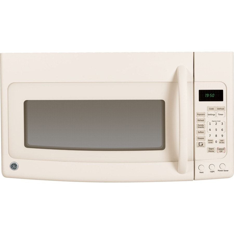 GE 1.9-cu ft Over-the-Range Microwave with Sensor Cooking Controls (Bisque) (Common: 30-in; Actual: 29.875-in)