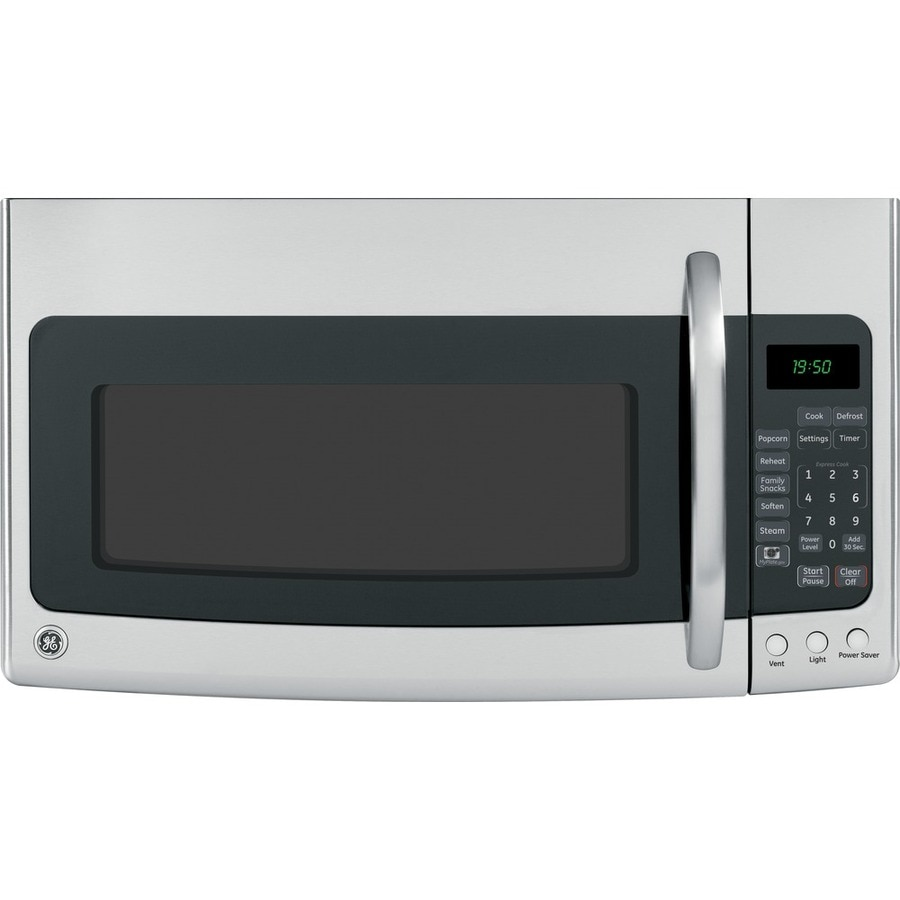 GE 1.9-cu ft Over-The-Range Microwave with Sensor Cooking Controls (Stainless Steel) (Common: 30-in; Actual: 29.87-in)