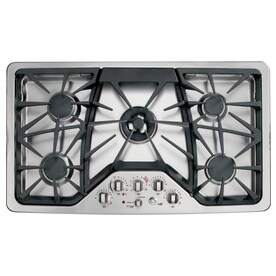 ge cafe 5burner gas cooktop stainless steel common 36