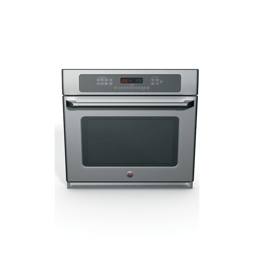 GE Cafe Self-Cleaning Convection Single Electric Wall Oven (Stainless Steel) (Common: 30-in; Actual 29.6875-in)