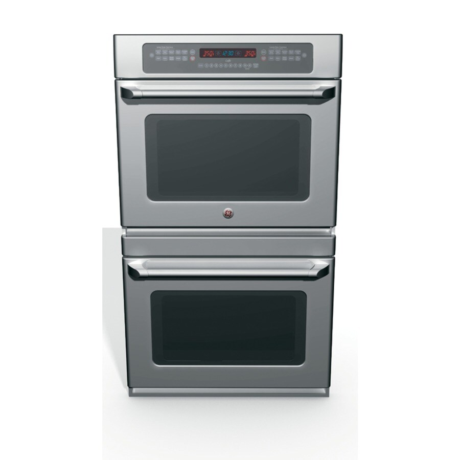 GE Cafe Self-Cleaning Convection Double Electric Wall Oven (Stainless) (Common: 30-in; Actual 29.75-in)