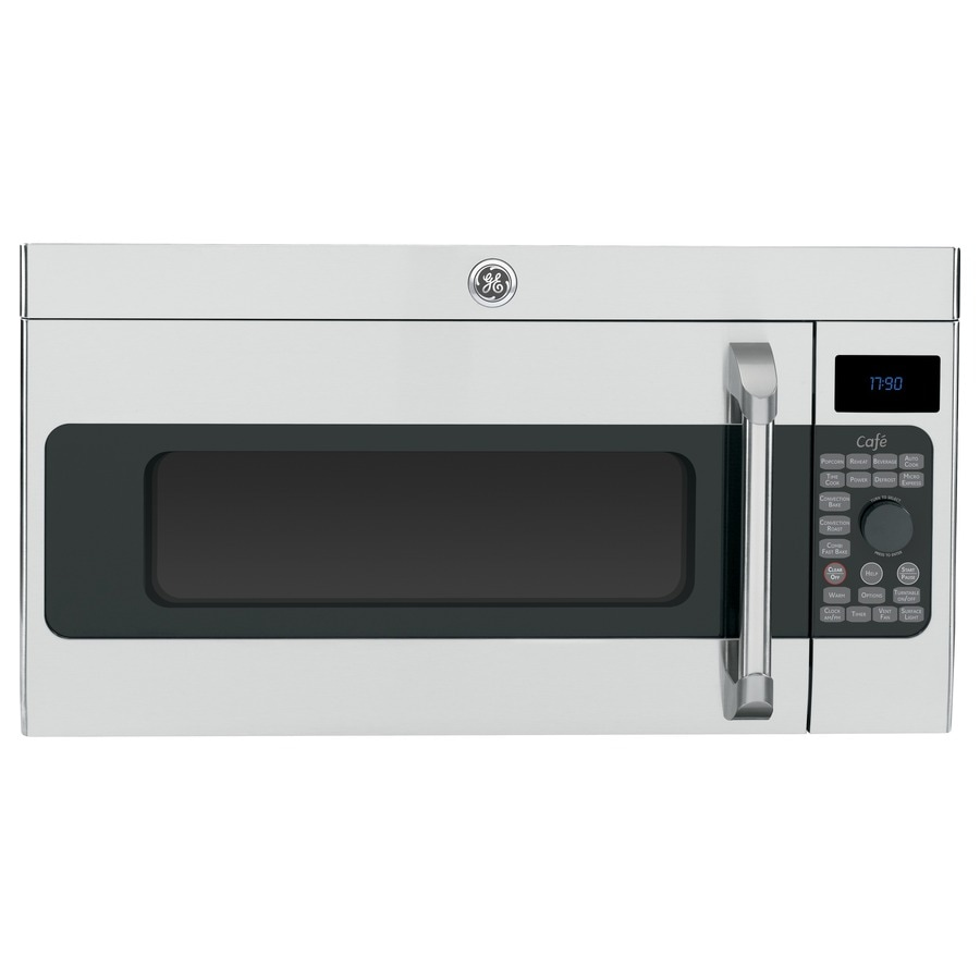 GE Cafe 1.7-cu ft Over-The-Range Convection Oven Microwave with Sensor Cooking Controls (Stainless Steel) (Common: 30-in; Actual: 29.93-in)