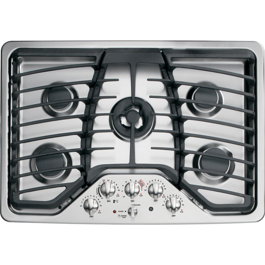 GE Profile 5-Burner Gas Cooktop (Stainless Steel) (Common: 30-in; Actual: 30-in)