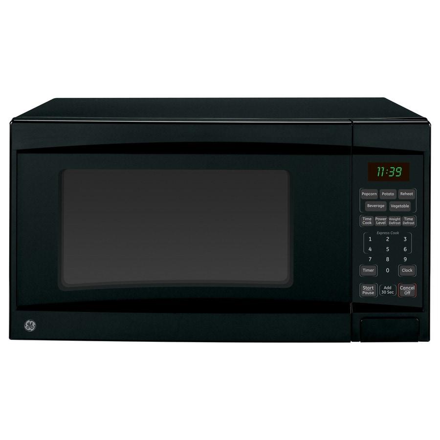 GE 1.1-cu ft 1,100-Watt Countertop Microwave (Black)