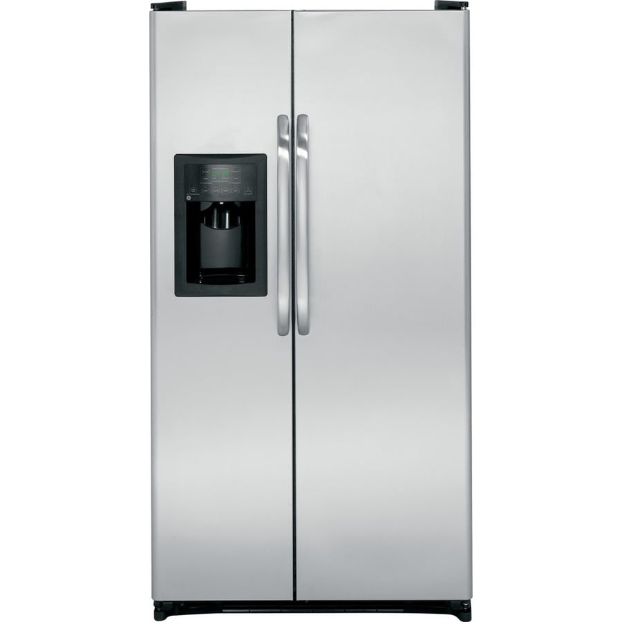 GE 25.25-cu ft Side-by-Side Refrigerator with Single Ice Maker (Stainless Steel)