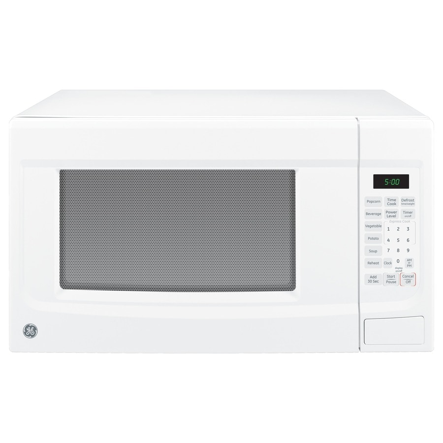 GE 1.4-cu ft 1,100-Watt Countertop Microwave (White)