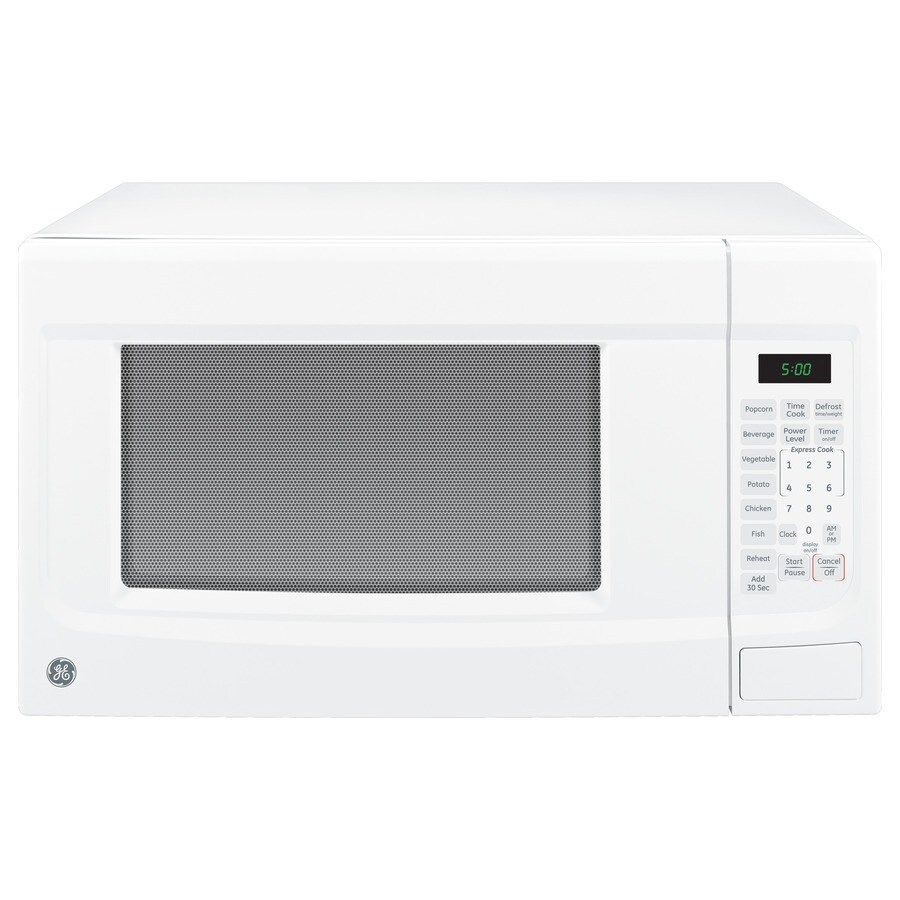 Shop Ge 1 4 Cu Ft 1100 Watt Countertop Microwave White