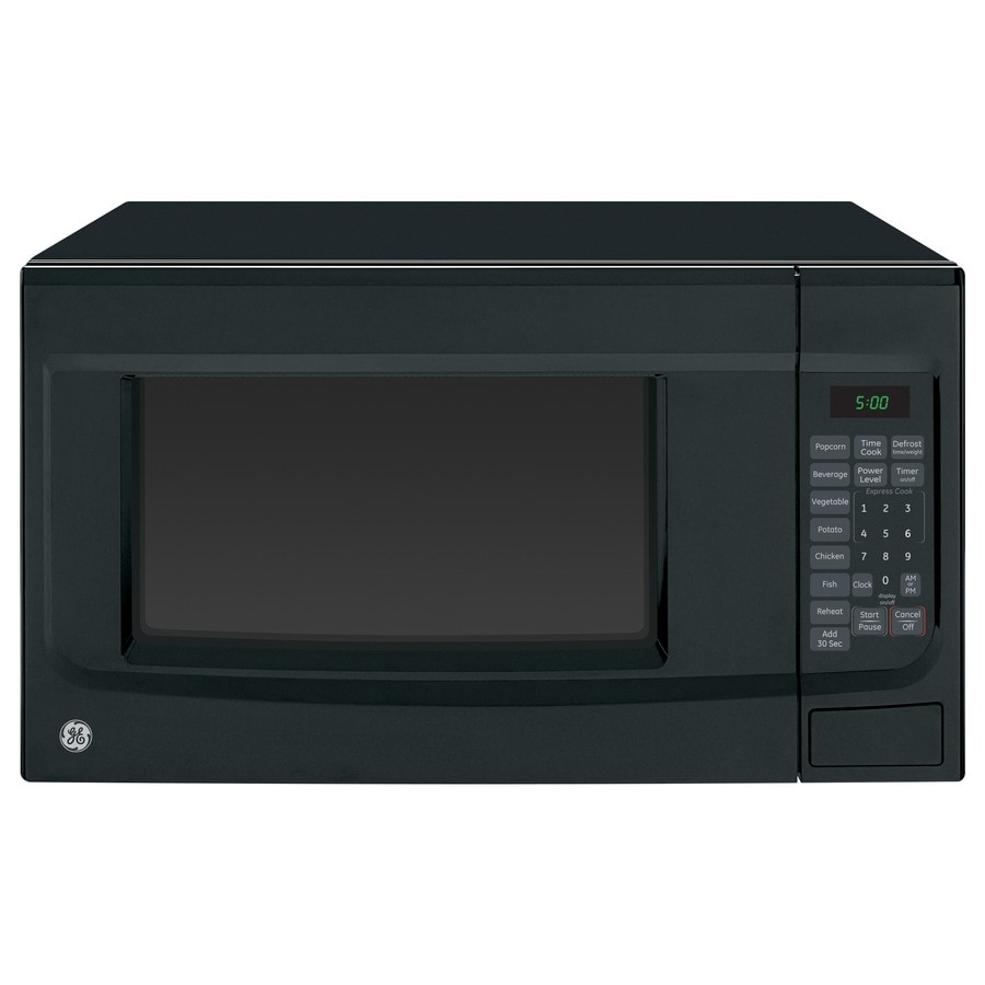 Shop GE 1.4-cu ft 1100-Watt Countertop Microwave (Black) at Lowes.com