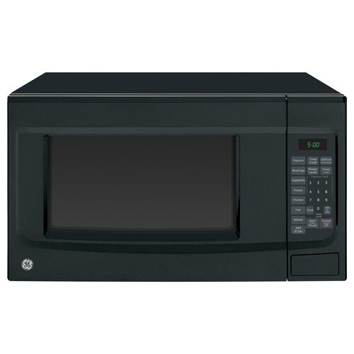 Ge 1 4 Cu Ft 1100 Countertop Microwave Black At Lowes Com