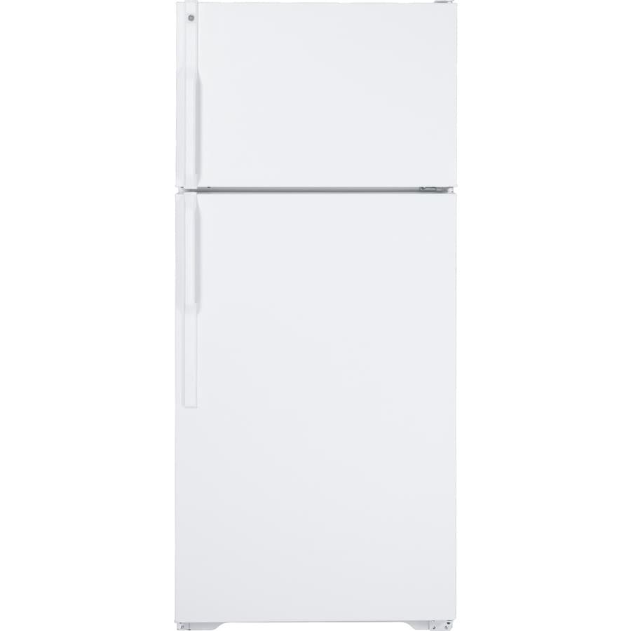 GE 16.5-cu ft Top-Freezer Refrigerator (White)