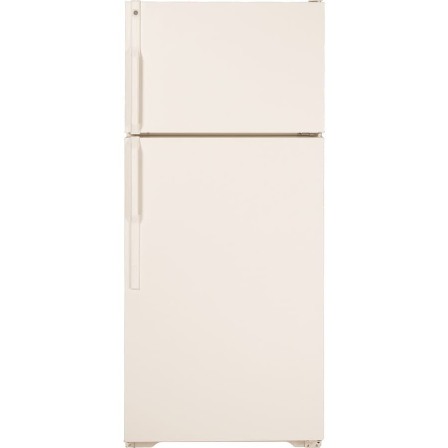 GE 16.5-cu ft Top-Freezer Refrigerator (Bisque) ENERGY STAR