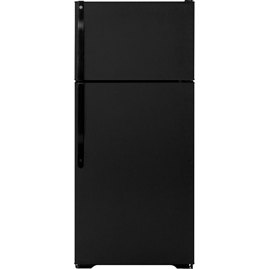 GE 16.5 cu ft Top-Freezer Refrigerator (Black) ENERGY STAR