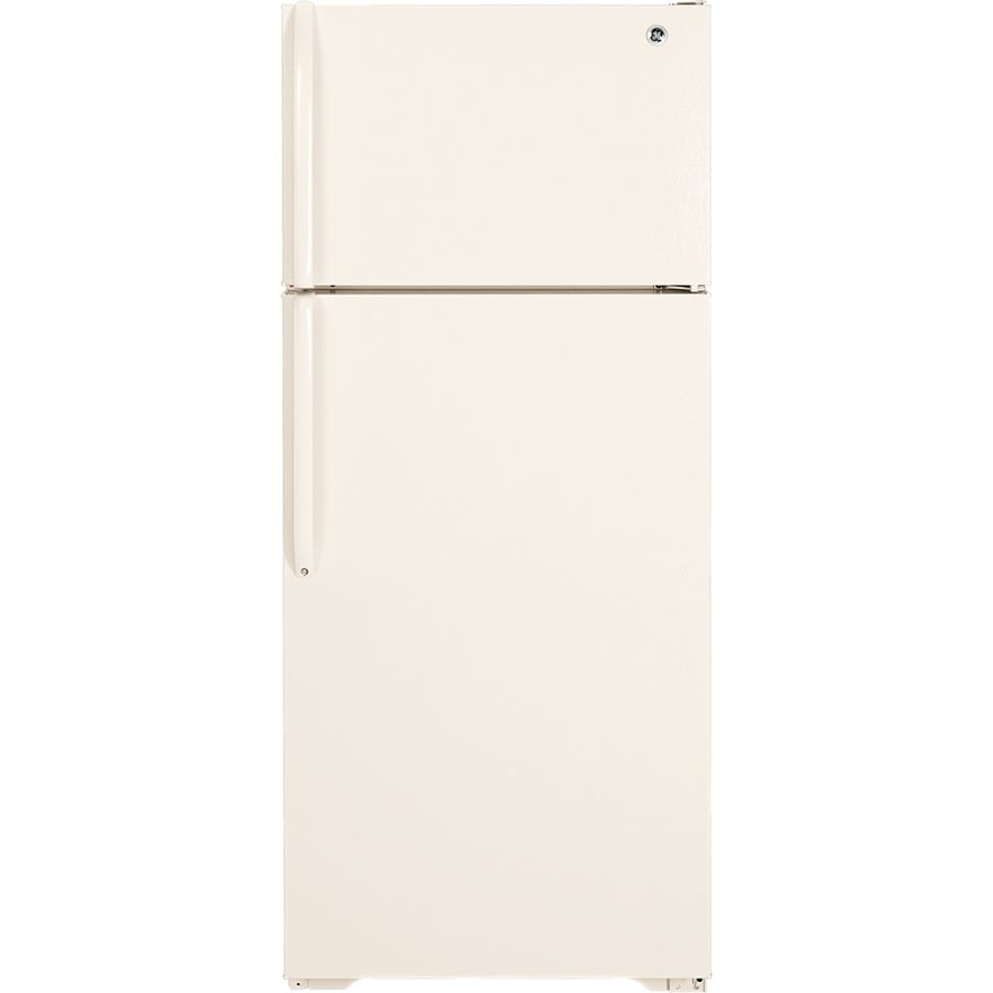 GE 18.1-cu ft Top-Freezer Refrigerator (Bisque)