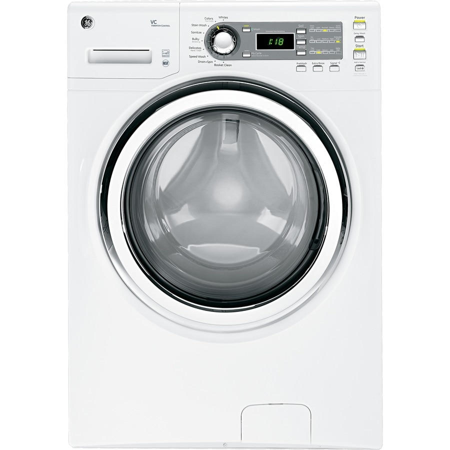 GE 4.1-cu ft High Efficiency Front-Load Washer (White) ENERGY STAR