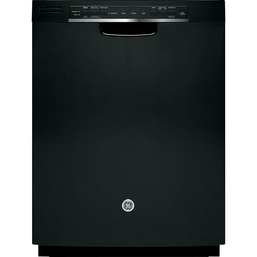 GE 54-Decibel Built-In Dishwasher with Hard Food Disposer (Black) (Common: 24-in; Actual: 23.75-in)