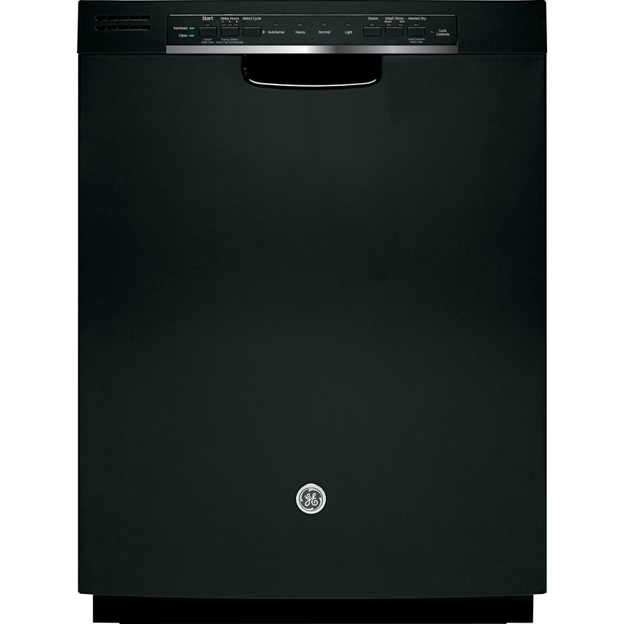 GE 52-Decibel Built-In Dishwasher with Hard Food Disposer (Black) (Common: 24-in; Actual: 23.75-in)