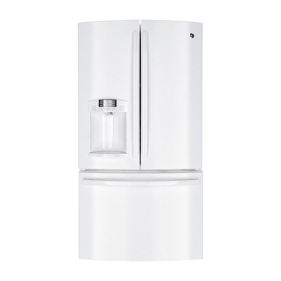 Ge 27 7 Cu Ft French Door Refrigerator With Dual Ice Maker White