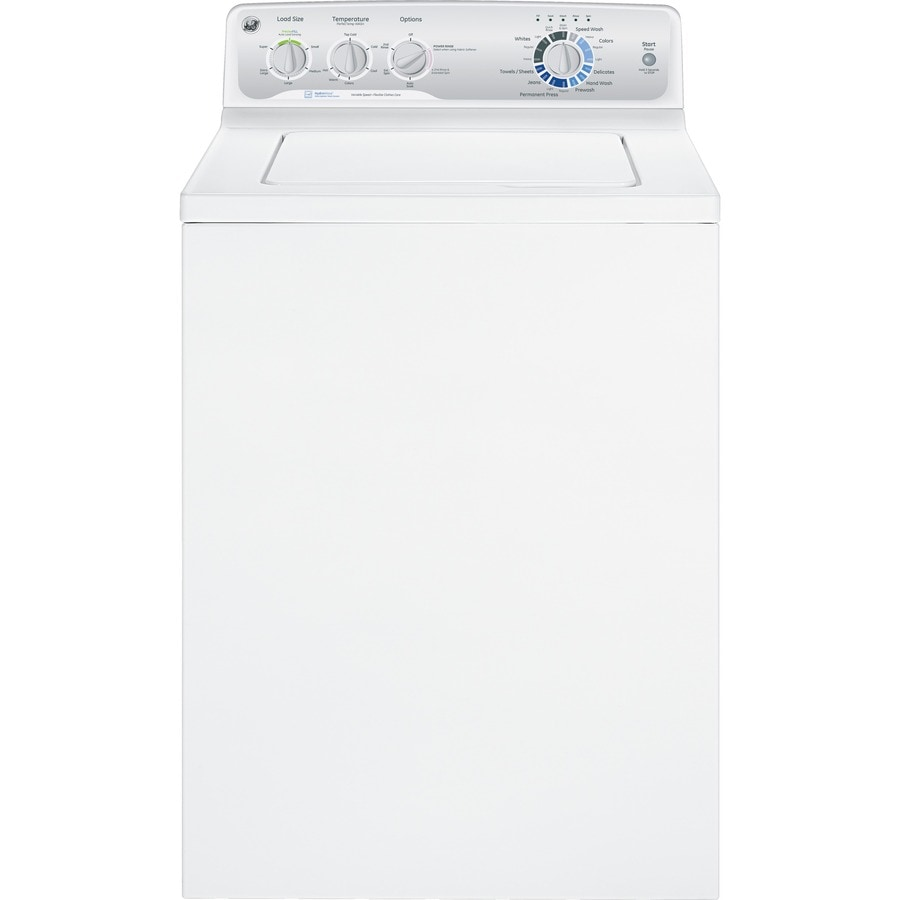 GE 3.8-cu ft Top-Load Washer (White)
