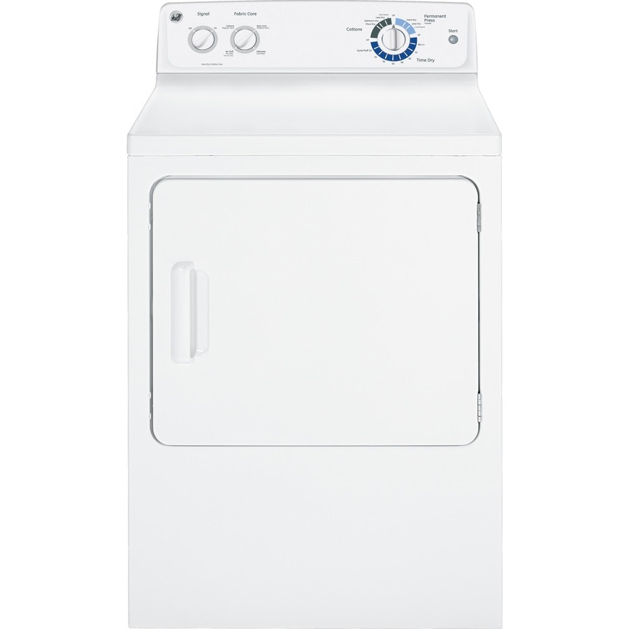 GE 6-cu ft Electric Dryer (White)