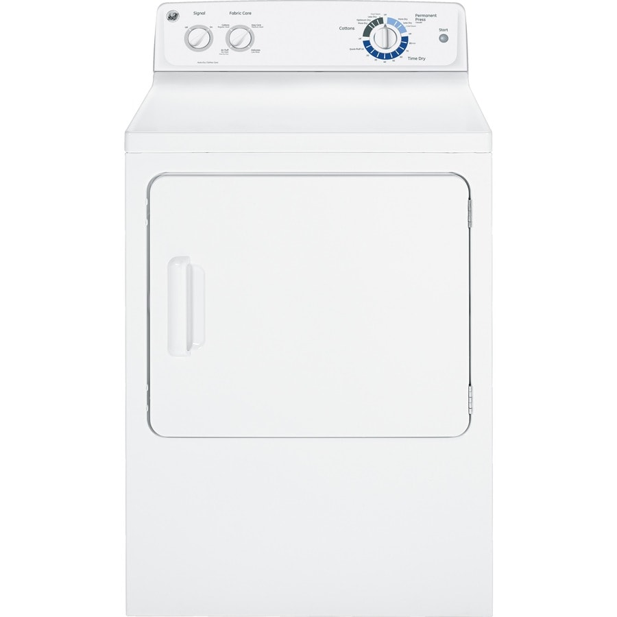 GE 6.8-cu ft Electric Dryer (White)
