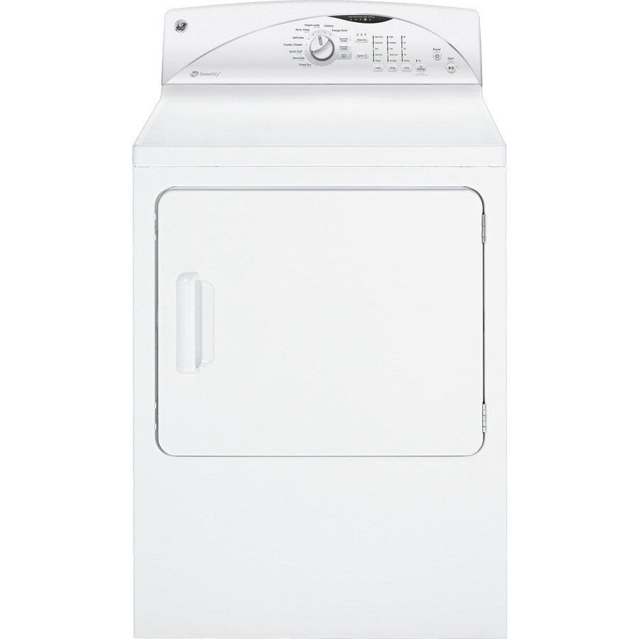 GE 7 cu ft Electric Dryer (White)
