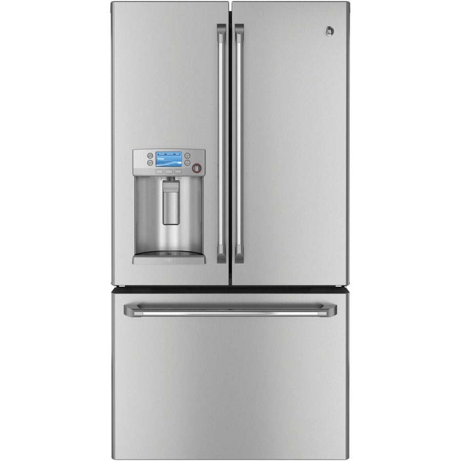 Shop ge cafe 231 cu ft counter depth french door refrigerator ge cafe 231 cu ft counter depth french door refrigerator with ice maker rubansaba