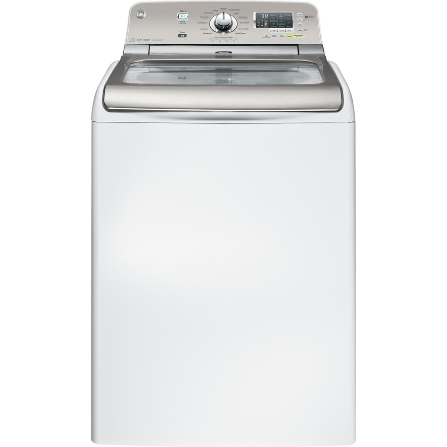 GE 4.8-cu ft High-Efficiency Top-Load Washer (White)