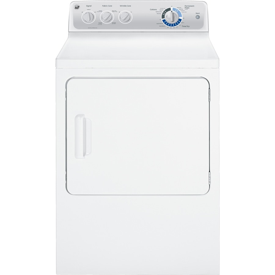 GE 7-cu ft Gas Dryer (White)