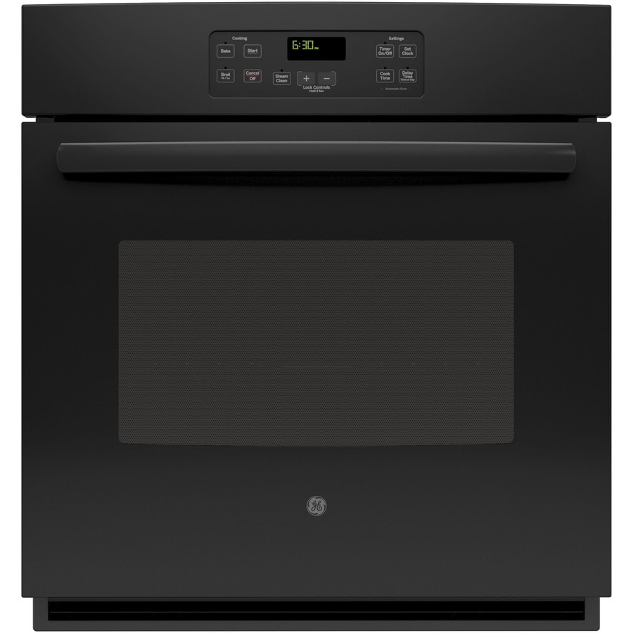 Oven Baking Element >> Shop GE Self-cleaning Single Electric Wall Oven (Fingerprint-Resistant Black) (Common: 27 Inch ...